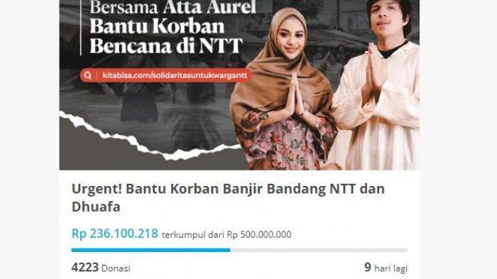 Peduli Korban Banjir Bandang NTT, Atta dan Aurel Galang Dana, Terkumpul Rp 200 Juta dalam Sehari