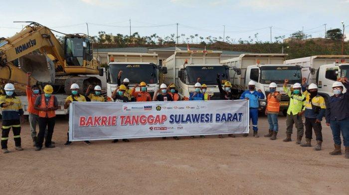PT CPM Bantu Pangan dan Alat Berat ke Lokasi Gempa Sulbar