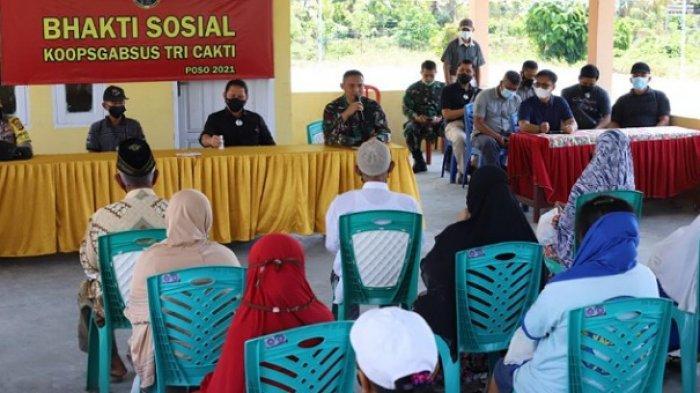 Bakti sosial Koopsgabsus Tricakti di wilayah operasi Satgas Madago Raya