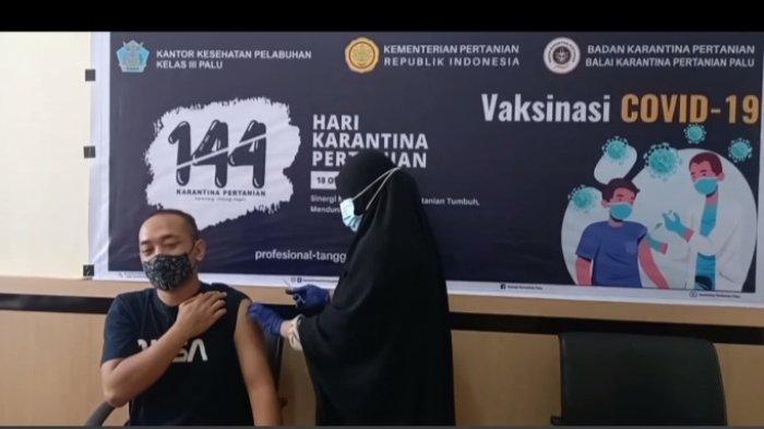 Balai Karantina Pertanian Palu Gelar Vaksinasi Covid-19 Gratis untuk Warga