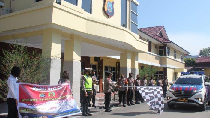 Bansos Covid-19, Polres Palu dan Kodim Donggala Salurkan 300 Paket Sembako
