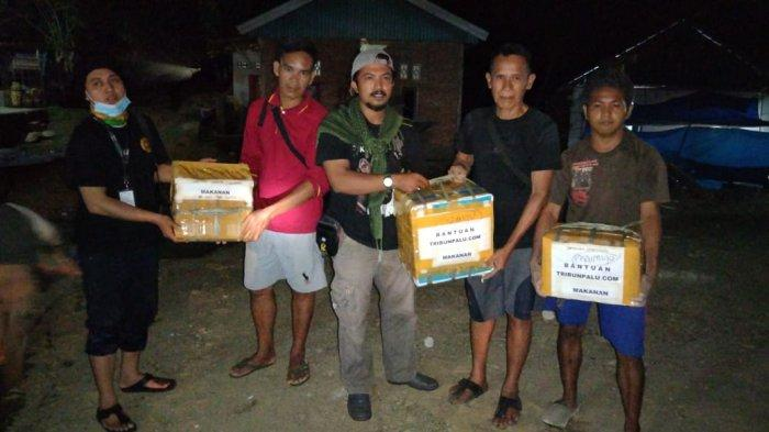 Ringankan Beban Pengungsi Gempa, TribunPalu.com Kirim Bantuan ke Sulbar