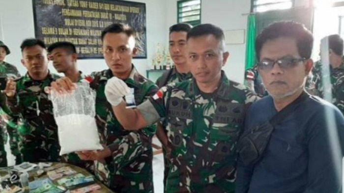 Aparat TNI Perbatasan Indonesia Amankan Sabu 51,9 kg yang Diselundupkan dari Malaysia