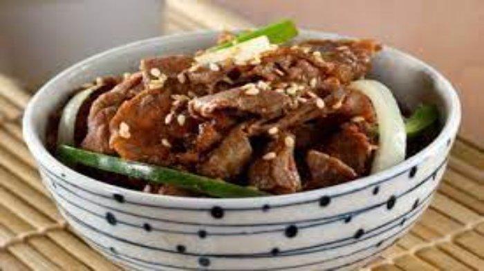 Beef teriyaki ala restoran jepang