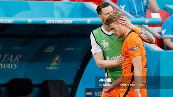Hasil Euro 2020 - Kartu Merah De Ligt Buat Belanda Keok Lawan Republik Ceko