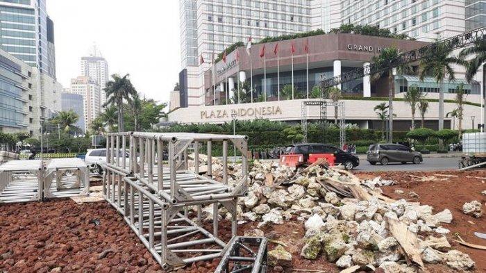 Kuras Anggaran hingga Rp 150 Juta, Instalasi Gabion di Bundaran HI Dibongkar 4 Bulan seusai Dibangun