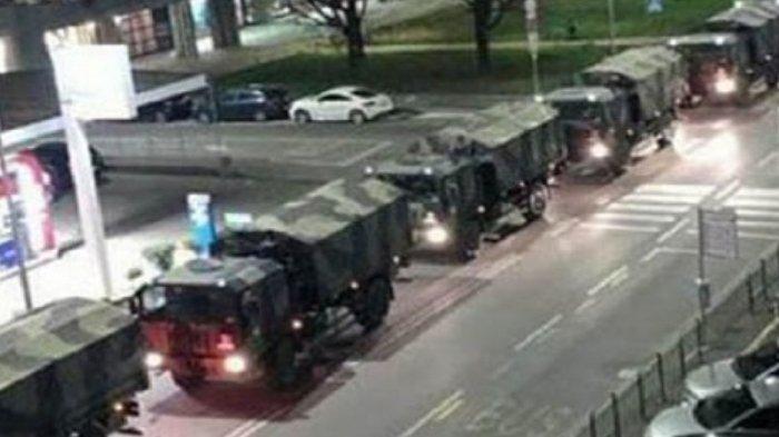 Video Mencekam Deretan Truk Militer Italia Membelah Malam untuk Angkut Jenazah Korban Virus Corona