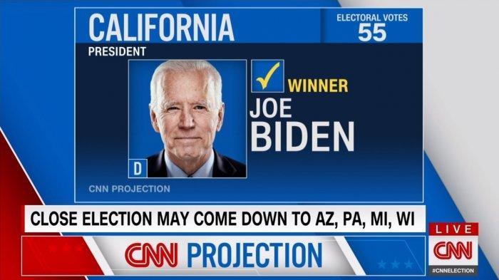 Biden menangkan California