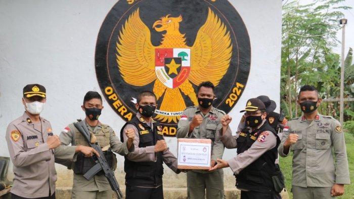 Biro Psikologi SSDM Polri Datangi Pos Madago Raya, Semangati Personel Brimob Pemburu Teroris Poso