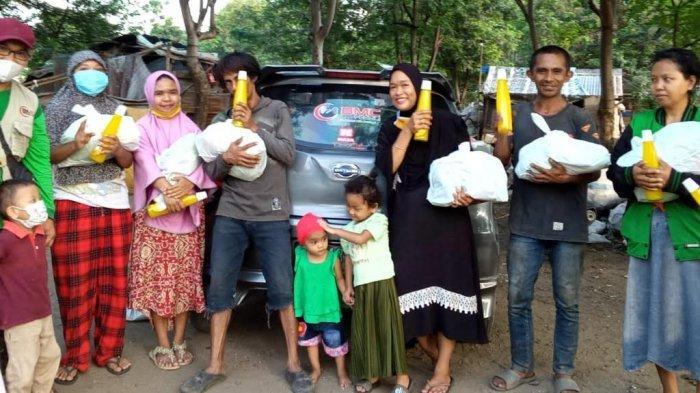 BMC Peduli Salurkan 27 Paket Sembako di TPA Kawatuna Palu