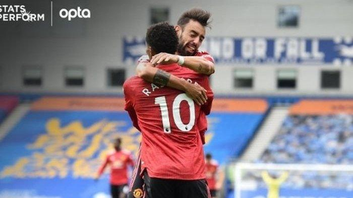 Bruno Fernandes Antar Manchester United Raih 3 Poin Lawan Brighton Lewat Penalti