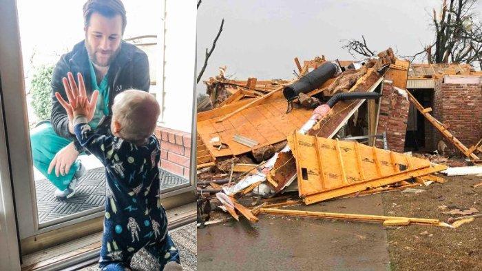 Viral Momen Haru Dokter bersama Bayinya di Balik Kaca, Kini Ia Juga Kehilangan Rumahnya karena Badai
