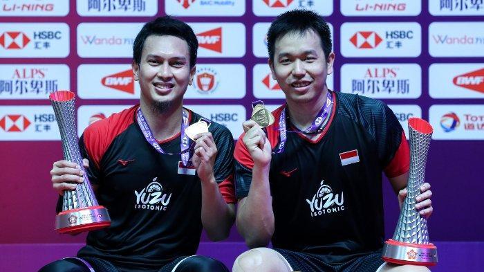 Jadwal dan Link TVRI BWF World Tour Finals 2020 The Daddies vs Lee Yang/Wang Chi-Lin Pukul 14.00 WIB