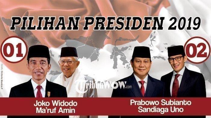 Hasil Situng Pilpres 2019 KPU, Selasa (14/5/2019) Pukul 10.30 WIB, Prabowo-Sandi Raih 54 Juta Suara