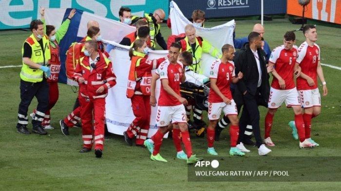 Hasil Euro 2020 - Christian Eriksen Kolaps, Denmark vs Finlandia Dihentikan Sementara