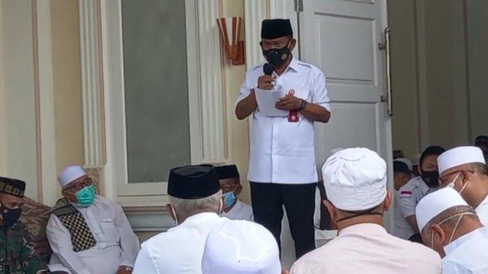 Pimpin Prosesi Pelepasan Jenazah Habib Saggaf, Gubernur Sulteng Terisak-isak saat Sambutan