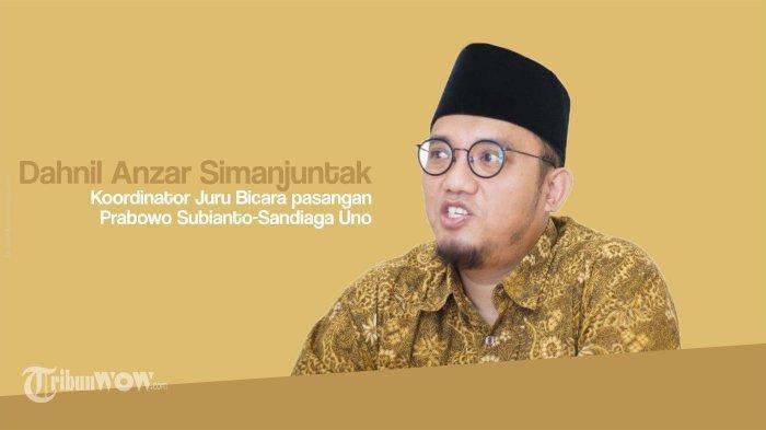 Dahnil Anzar Tunggu Perintah Prabowo Subianto untuk Maju dalam Pilwalkot Medan 2020