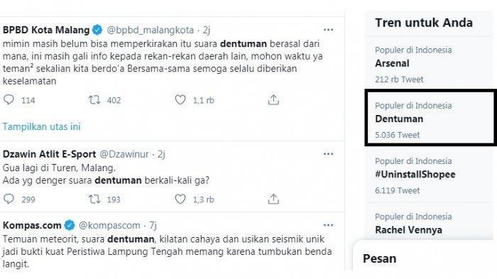 Dentuman Diduga dari Gunung Semeru jadi Trending Topic, Ini Kata BPBD Malang soal Asal Sumber Suara