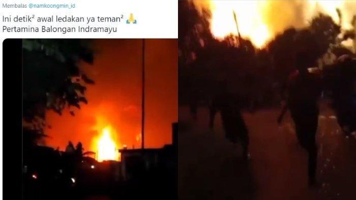 Video Detik-detik Awal Ledakan Kilang Minyak Balongan, Api Sempat Mengecil sebelum Bunyi Dentuman