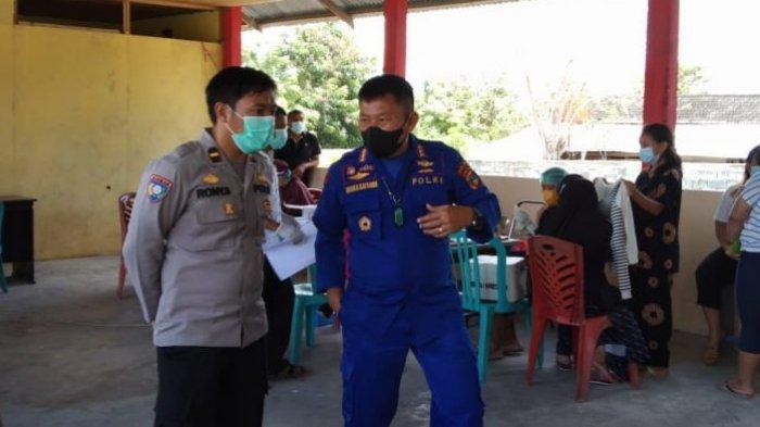 Dirpolairud Polda Sulteng Kunjungi Gerai VaksinasiCovid-19 di Polsek Marawola Sigi
