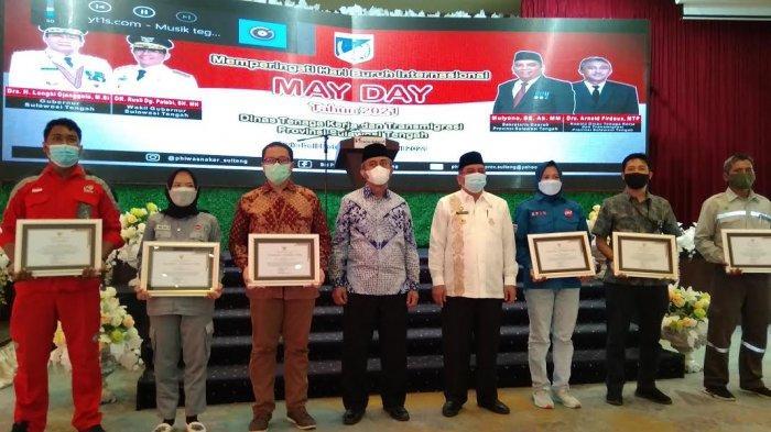 May Day, 6 Perusahaan di Sulteng Dapat Penghargaan dari Disnaker