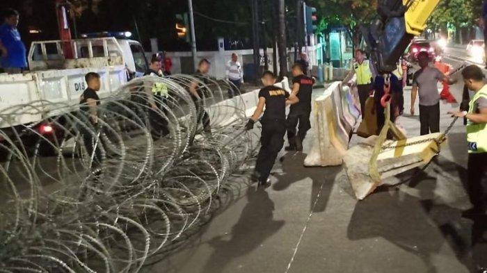 Jelang Pleno Penetapan Presiden dan Wakil Presiden, Ruas Jalan Menuju KPU Ditutup Kepolisian