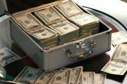 ILUSTRASI mata uang dolar AS.