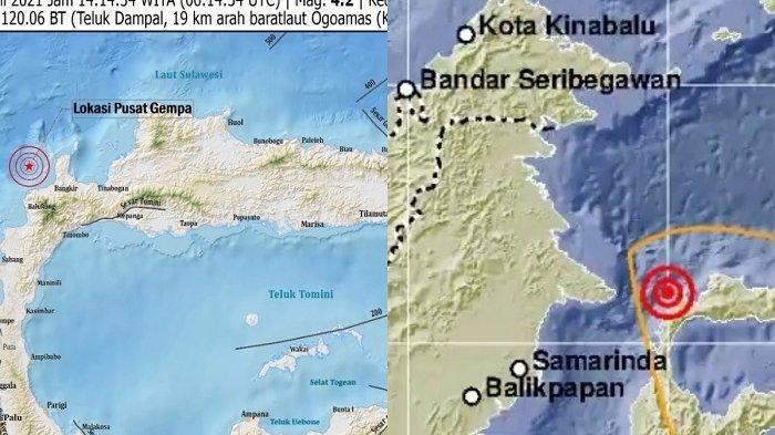 Donggala dan Tolitoli Diguncang Gempa 4 Magnitudo, Hanya Berselang 3 Menit