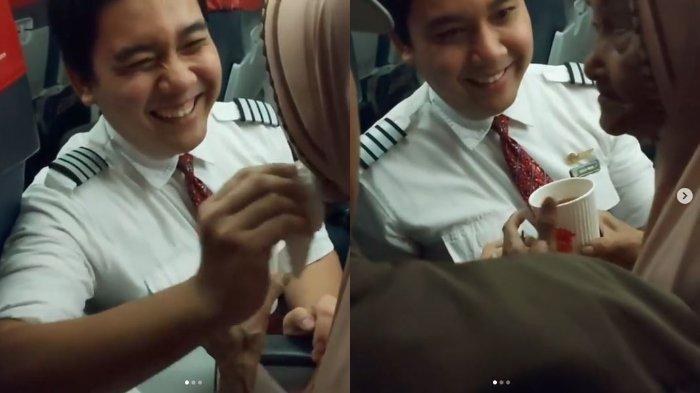Cerita Perekam Video Viral Pramugara Lion Air Suapi Seorang Nenek yang Panik saat Lepas Landas
