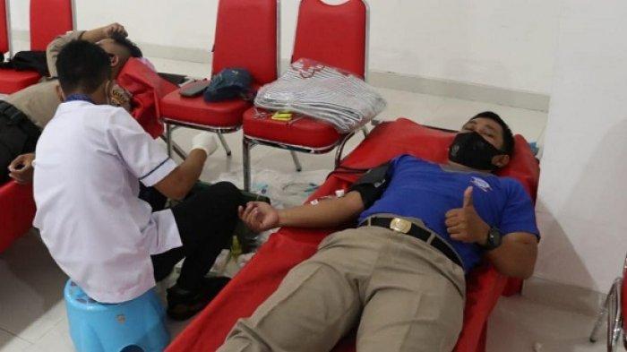 Jelang HUT Lantas, Donor Darah Polda Sulteng Target 100 Kantong