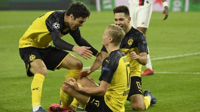 Hasil Liga Champions - Sepasang Gol Haland Antar Dortmund Tenggelamkan PSG