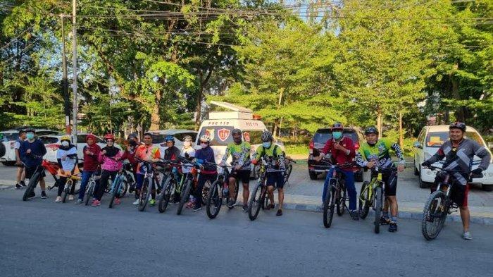 Sambut Hari Perawat Nasional, PPNI Sulteng Gelar Fun Bike di Taman GOR Palu
