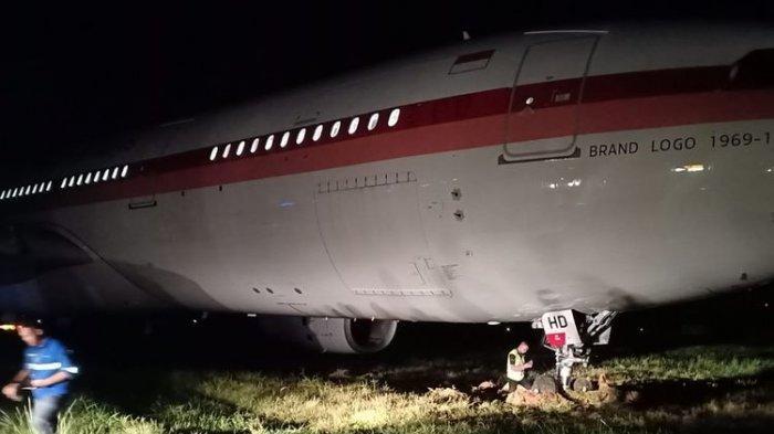 Foto-foto Pesawat Garuda Indonesia yang Tergelincir di Makassar Beredar di Media Sosial