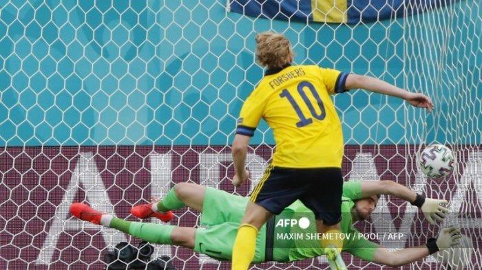 Hasil Euro 2020 - Penalti Forsberg Antarkan Swedia Menang Tipis 1-0 Lawan Slovakia