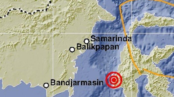 Titik gempa di Sulawesi Barat