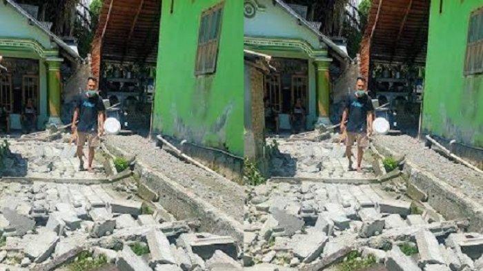 Gempa Tojo Una-una: Pertokoan Tutup, Pagar Rumah Warga Roboh