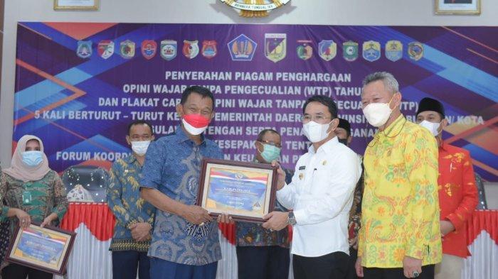 Provinsi Sulawesi Tengah Raih WTP 5 Kali Berturut-turut dari BPK