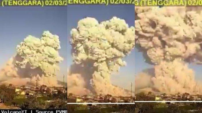 Video Detik-detik Erupsi Gunung Sinabung, Muntahkan Awan Panas dengan Ketinggian Capai 5.000 Meter