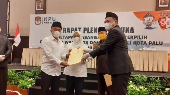 BREAKING NEWS: KPU Tetapkan Hadi-Reny Wali Kota Palu Terpilih