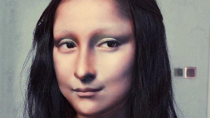 Make up Artis ini Viral di Media Sosial usai Dandani Wajahnya seperti Lukisan Monalisa