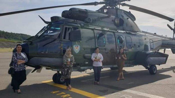 Heli Serbu TNI-AD Mendarat di Bandara Luwuk, Ini Penjelasan Dandim 1308/LB