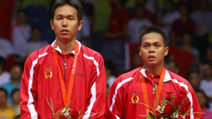 Hendra Setiawan/Markis Kido merebut medali emas Olimpiade Beijing 2008.