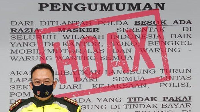 Hoaks! Denda Rp 250 Ribu Bagi Masyarakat yang Tidak Menggunakan Masker di Sulawesi Tengah