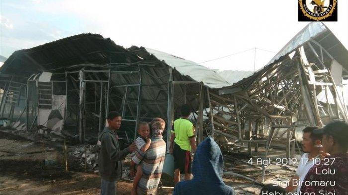 20 Huntara Bantuan Yayasan Dana Kemanusiaan Kompas di Sigi Terbakar Minggu Sore