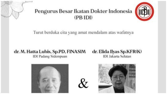 PB IDI: Dua Dokter Meninggal Dunia setelah Tertular Covid-19, Sebelumnya Masih Aktif Tangani Pasien