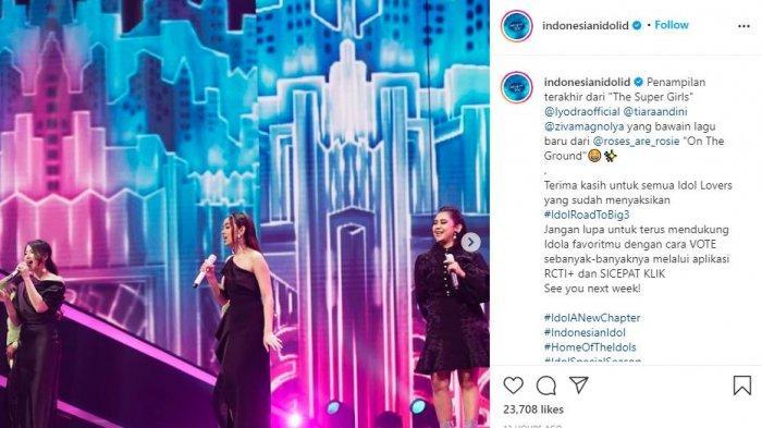 Lyodra, Tiara dan Ziva Kembali ke Panggung Indonesian Idol, Tagar #TheSuperGirlComeBack Trending