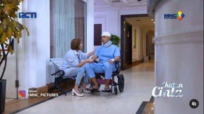 Ikatan cinta malam ini: Aldebaran duduk lemah di kursi roda