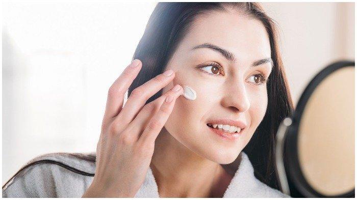 Ilustrasi perawatan kulit wajah.