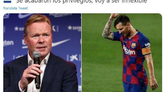 Terungkap, Ini Ucapan Pelatih Baru Barcelona yang Buat Lionel Messi Emosi dan Ingin Segera Pindah