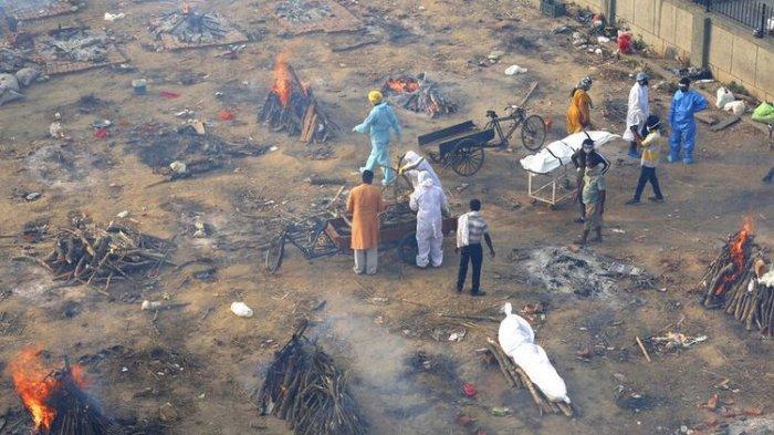 Tsunami kasus covid-19 di India